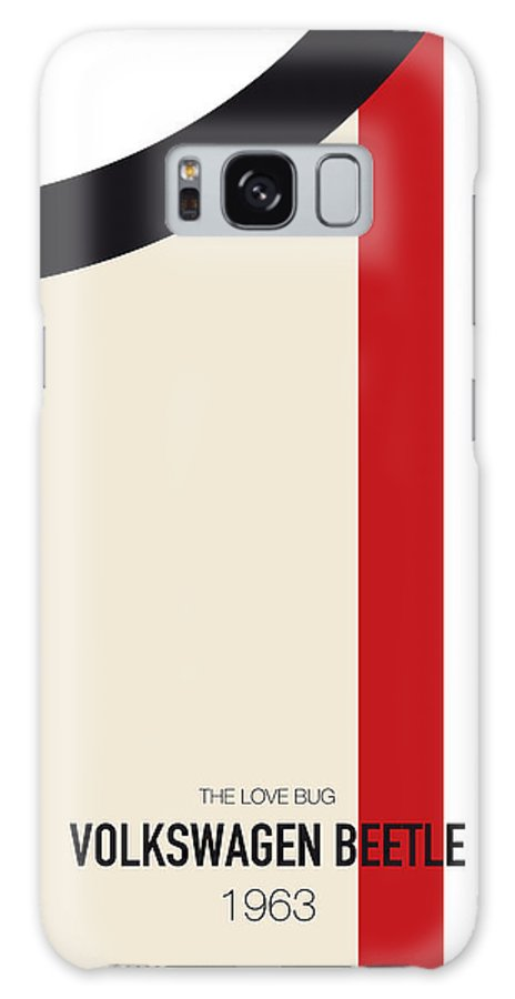 Volkswagen Galaxy Case featuring the digital art No014 My HERBIE minimal movie car poster by Chungkong Art