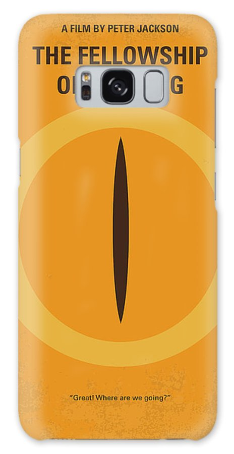 Lord Galaxy Case featuring the digital art No039-1 My Lotr 1 Minimal Movie Poster by Chungkong Art