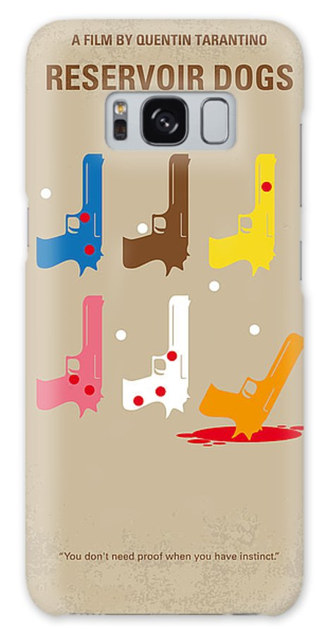 Reservoir Galaxy S8 Case featuring the digital art No069 My Reservoir Dogs Minimal Movie Poster by Chungkong Art