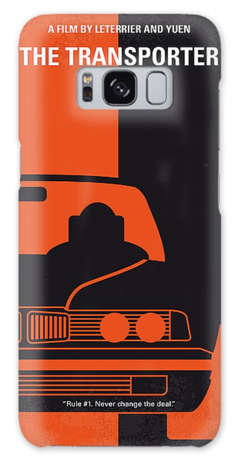 Transporter Galaxy S8 Case featuring the digital art No552 My The Transporter Minimal Movie Poster by Chungkong Art