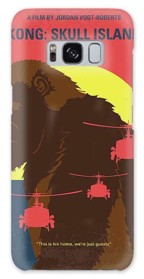 Skull Galaxy S8 Case featuring the digital art No799 My Skull Island Minimal Movie Poster by Chungkong Art