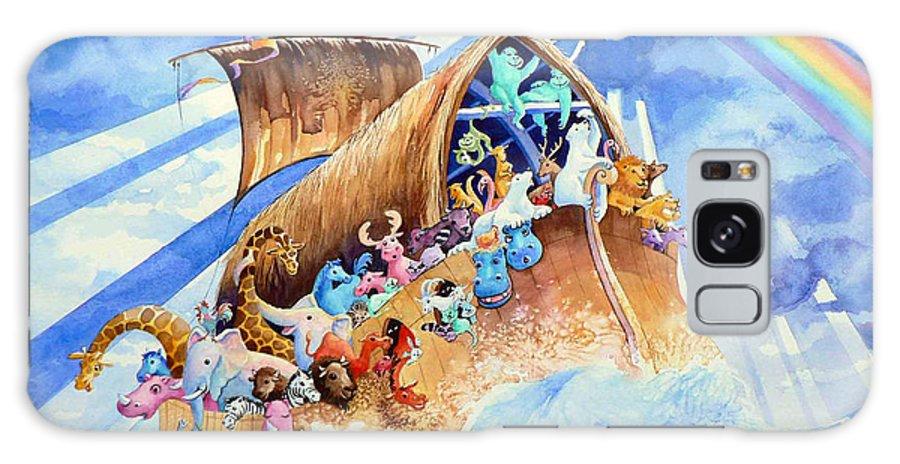 Noahs Arc Mural Galaxy S8 Case featuring the painting Noahs Ark by Hanne Lore Koehler