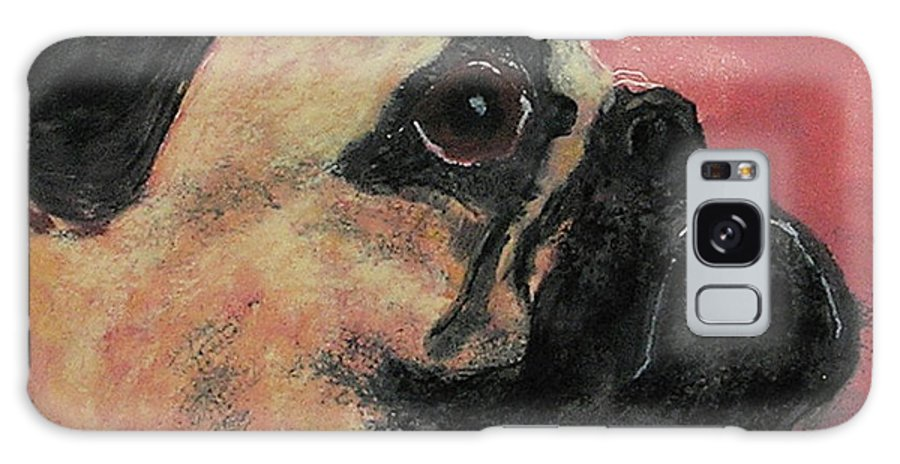 Pug Galaxy S8 Case featuring the mixed media Noble Intentions by Cori Solomon