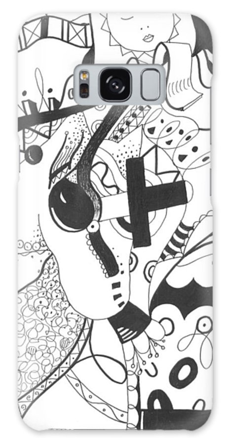 Animal Galaxy S8 Case featuring the drawing Nobody Really Knows by Helena Tiainen