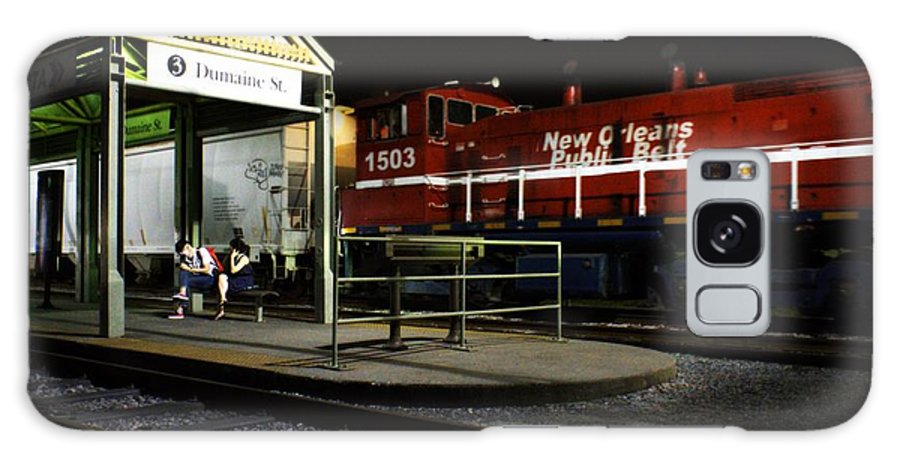 Nola Galaxy S8 Case featuring the photograph New Orleans Train Stop by LuAnn Griffin