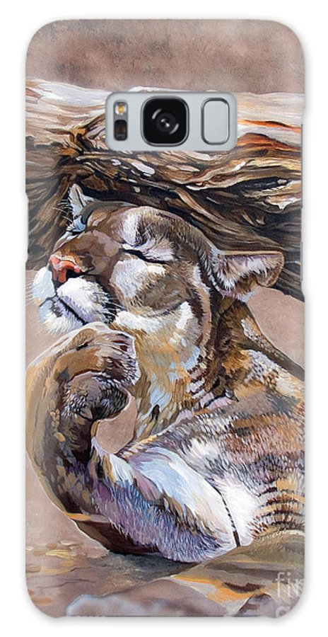 Catamount Galaxy S8 Case featuring the painting Nonchalant by J W Baker