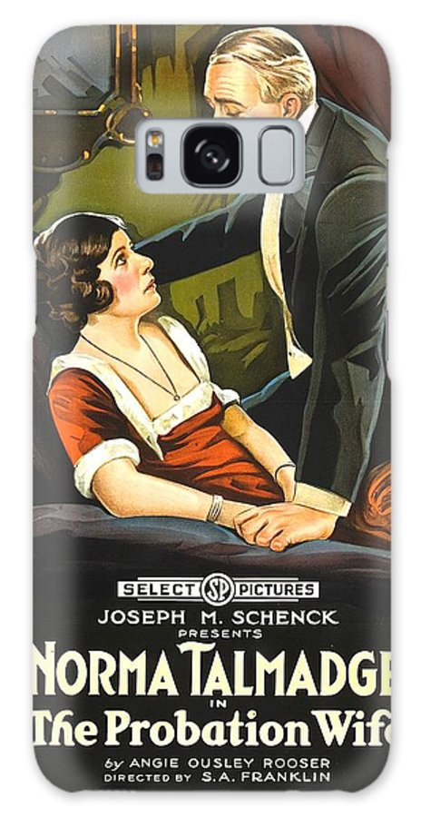 Movie Galaxy S8 Case featuring the drawing Norma Talmadge In The Probation Wife 1919 by Mountain Dreams