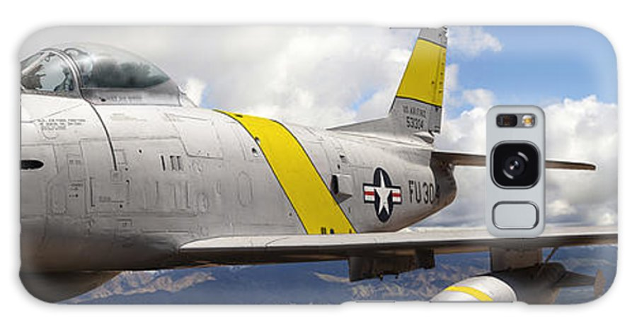 F-86 Sabre Galaxy Case featuring the photograph North American F-86 Sabre by Larry McManus