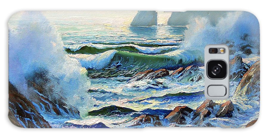 Seascape Galaxy Case featuring the painting North Coast Surf by Frank Wilson