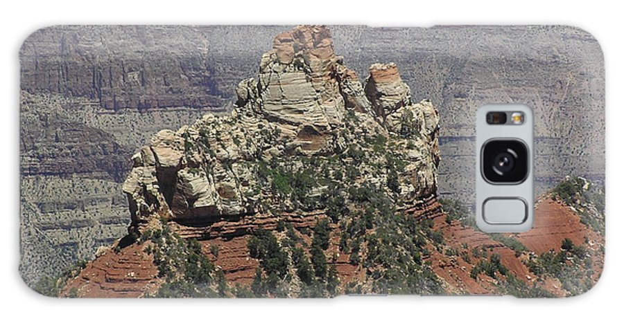 Rock Galaxy S8 Case featuring the photograph North Rim Rock by Louise Magno