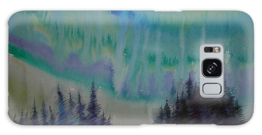 Trees Galaxy S8 Case featuring the painting Northern Light by Anna Duyunova