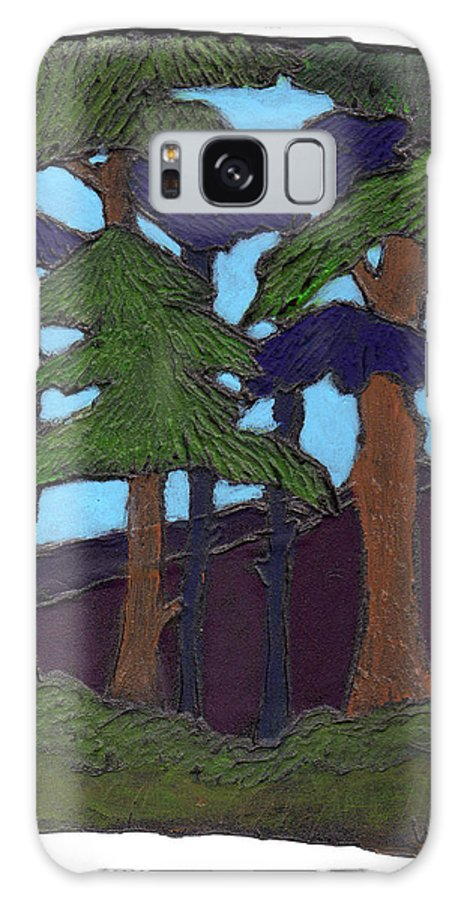 Tree Galaxy Case featuring the painting Northern Woods by Wayne Potrafka
