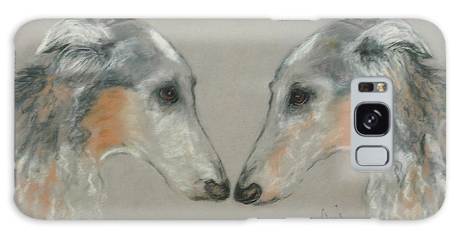 Dog Galaxy Case featuring the drawing Nose To Nose by Cori Solomon