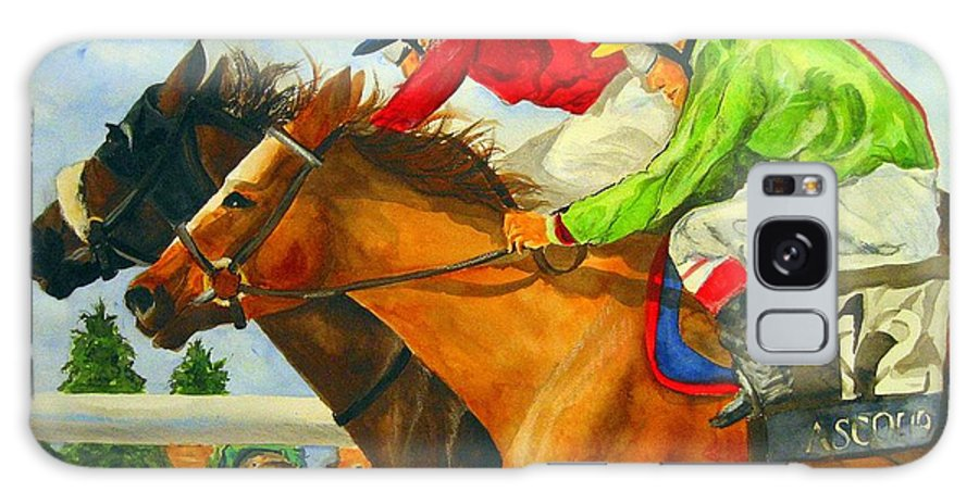 Horse Galaxy S8 Case featuring the painting Nose To Nose by Jean Blackmer
