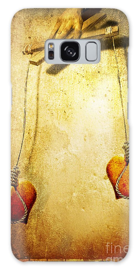 Puppeteer Galaxy Case featuring the painting Not Meant To Be... by Jacky Gerritsen
