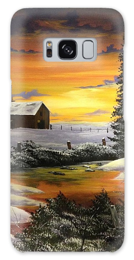 Farm Galaxy S8 Case featuring the painting Nothing To Do by Glen Mcclements