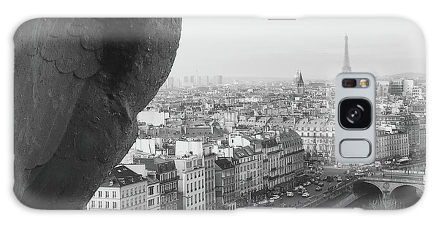 Gargoyle Galaxy S8 Case featuring the photograph Notre Dame Gargoyle by Victoria Lakes