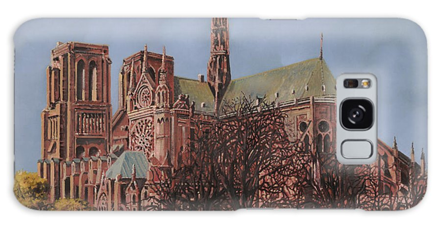 Paris Galaxy S8 Case featuring the painting Notre-dame by Guido Borelli
