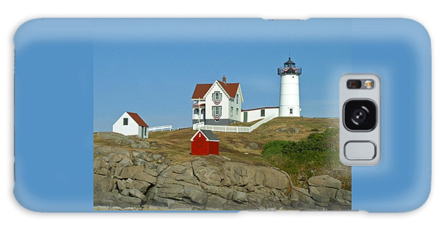 Nubble Galaxy Case featuring the photograph Nubble Light by Margie Wildblood