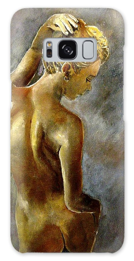 Girl Nude Galaxy S8 Case featuring the painting Nude 27 by Pol Ledent