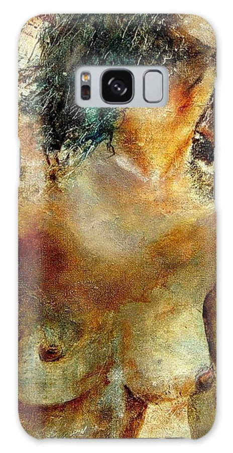 Girl Nude Galaxy S8 Case featuring the painting Nude 34 by Pol Ledent