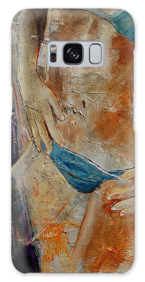 Girl Nude Galaxy S8 Case featuring the painting Nude 450608 by Pol Ledent