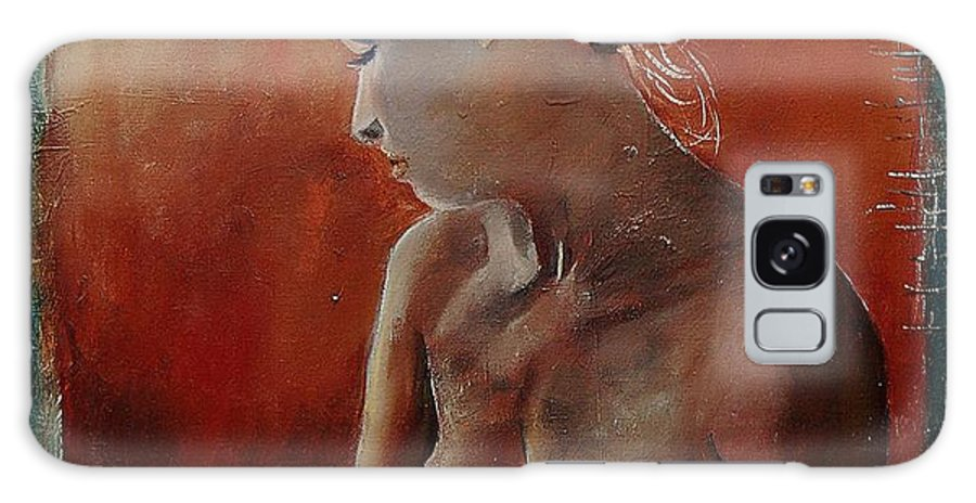Girl Galaxy Case featuring the painting Nude 569022455 by Pol Ledent