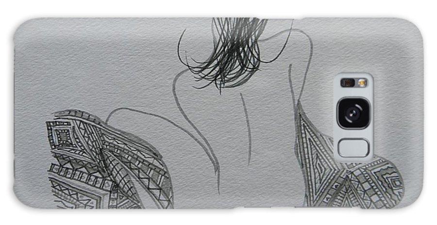 Marwan George Khoury Galaxy S8 Case featuring the drawing Nude II by Marwan George Khoury