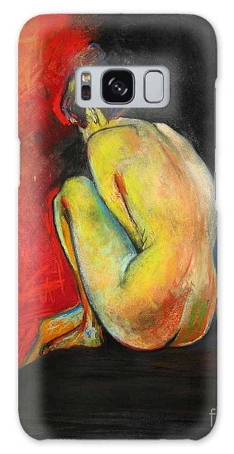 Nude Galaxy S8 Case featuring the drawing Nude- Introspection by Yxia Olivares