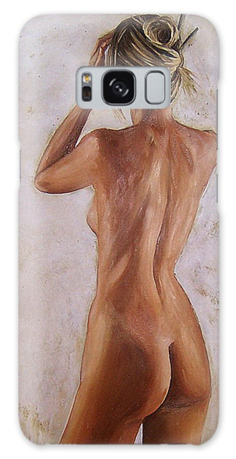 Nude Galaxy Case featuring the painting Nude by Natalia Tejera