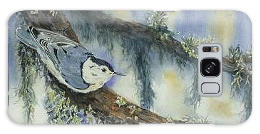 Nuthatch Galaxy S8 Case featuring the painting Nuthatch by Dolores Fegan