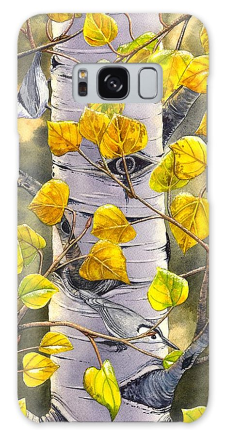 Nuthatch Galaxy Case featuring the painting Nuthatches by Catherine G McElroy