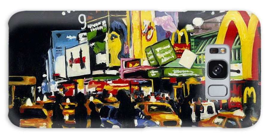 New York Galaxy S8 Case featuring the painting Nyc II The Temple Of M by Robert Reeves