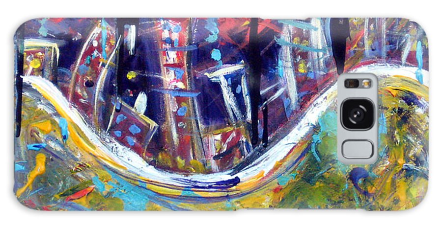 New York City Manhattan Hudson River Galaxy S8 Case featuring the painting Nyc Impressions 4 by Jason Gluskin