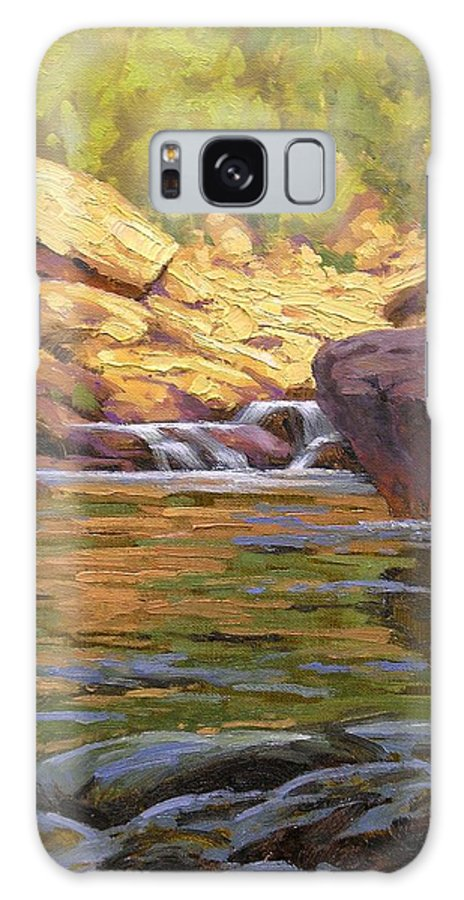 Water Scene Galaxy S8 Case featuring the painting Oak Creek Tributary by Cody DeLong