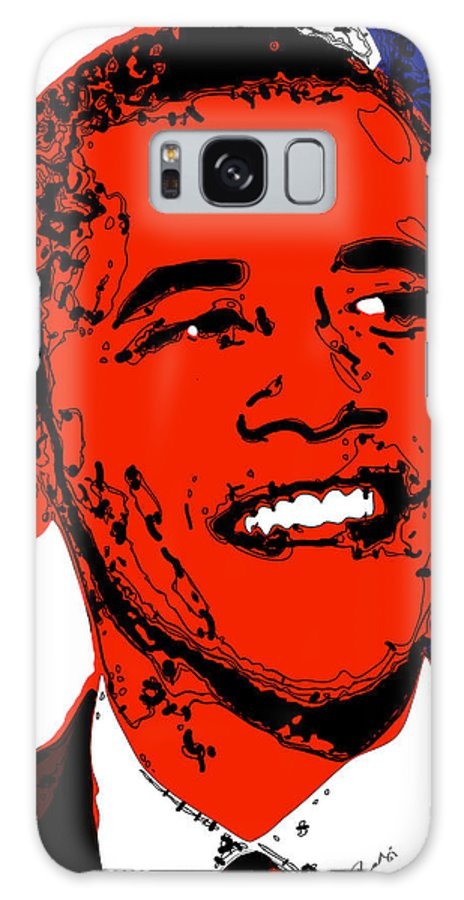 African Galaxy Case featuring the digital art Obama Hope by Rabi Khan