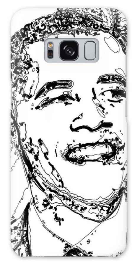 American Galaxy S8 Case featuring the digital art Obama by Rabi Khan