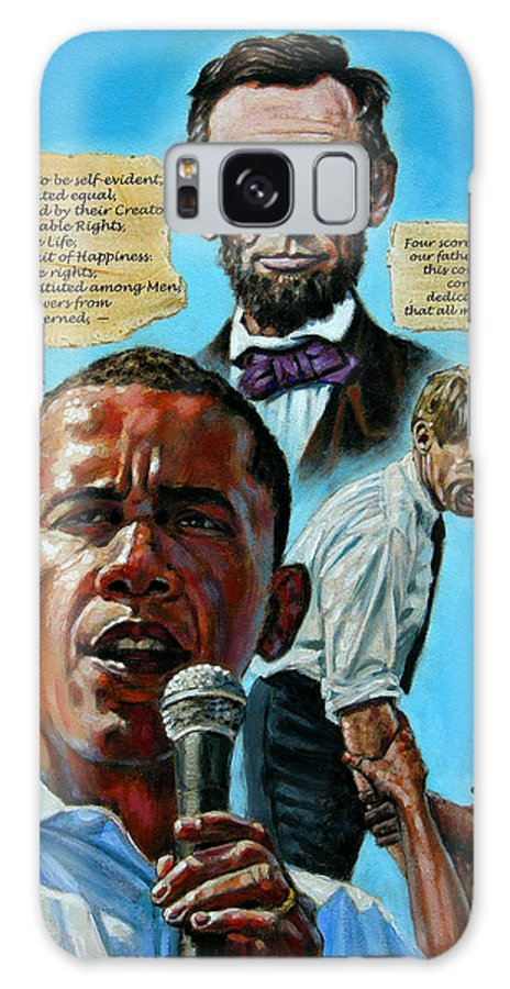 Obama Galaxy S8 Case featuring the painting Obamas Heritage by John Lautermilch