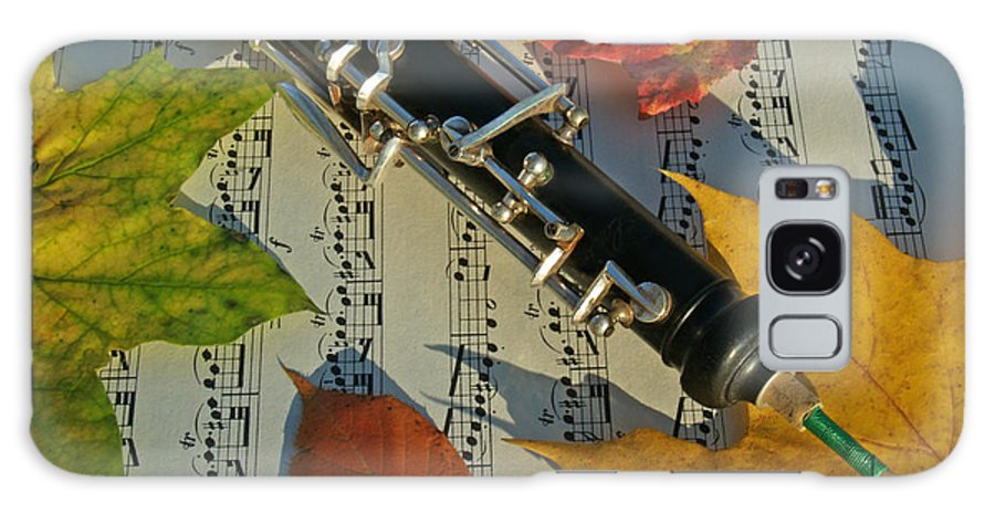 Oboe Galaxy Case featuring the photograph Oboe And Sheet Music On Autumn Afternoon by Anna Lisa Yoder
