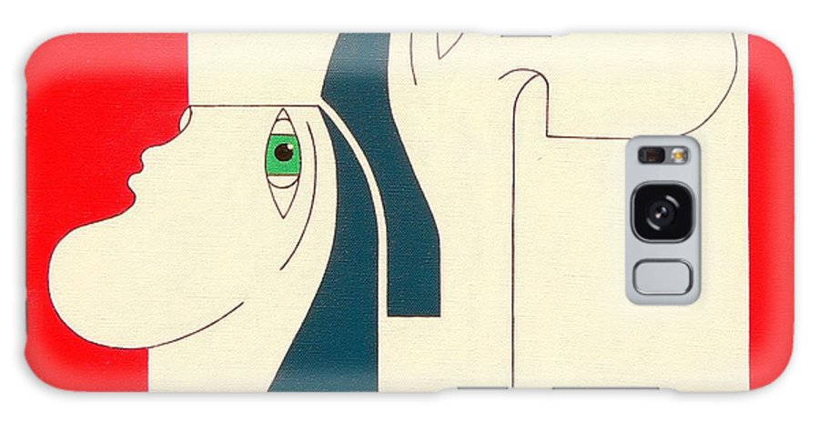 People Original Constructivisme Modern Stylisme Galaxy S8 Case featuring the painting Obstinate by Hildegarde Handsaeme