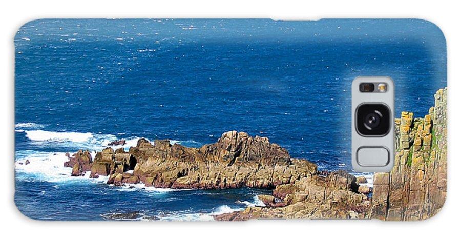 Aqua Galaxy S8 Case featuring the photograph Ocean Cliffs by Svetlana Sewell