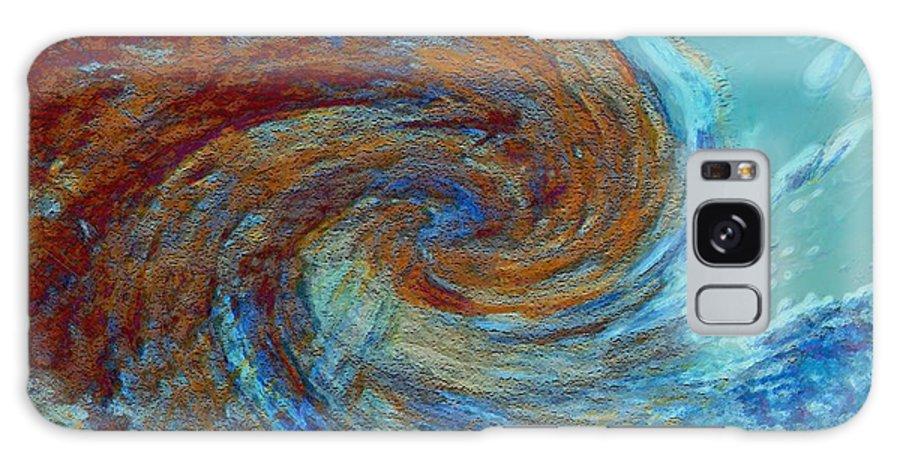 Hurricane Galaxy Case featuring the digital art Ocean Colors by Linda Sannuti