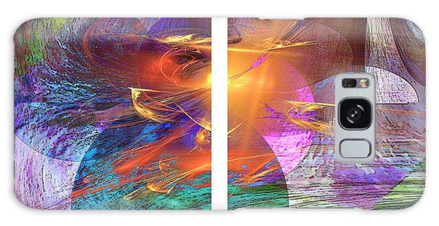 Ocean Fire Galaxy Case featuring the digital art Ocean Fire by John Beck