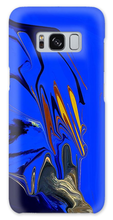 Abstract Galaxy Case featuring the digital art Ocean Floor by Florene Welebny