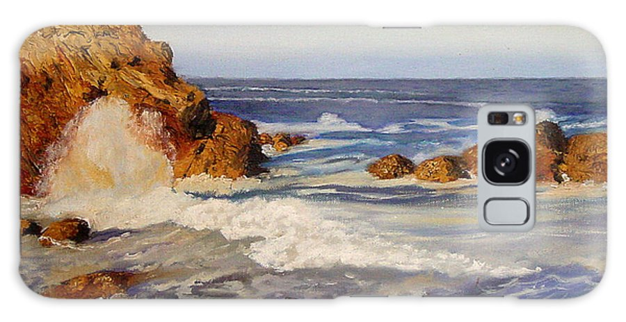 Seascape Galaxy Case featuring the painting Ocean Rock by Quwatha Valentine