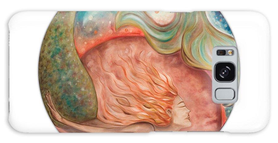 Ocean Spirit Inspiration Art Soul Spiritual Galaxy S8 Case featuring the painting Ocean Spirit by Moira Gil