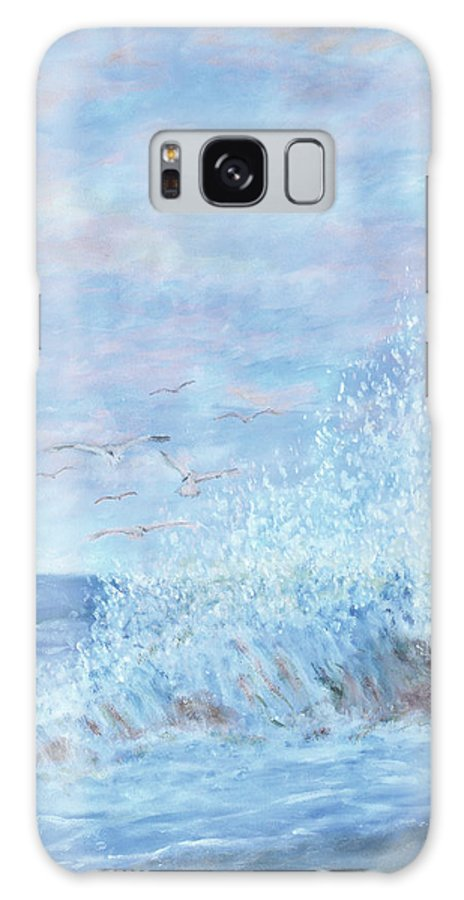 Gulls Galaxy Case featuring the painting Ocean Spray by Ben Kiger