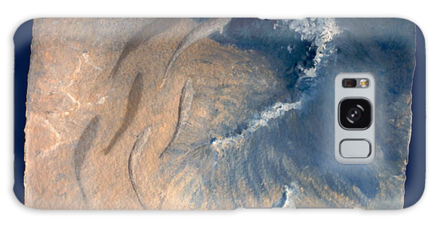 Seascape Galaxy Case featuring the painting Ocean by Steve Karol