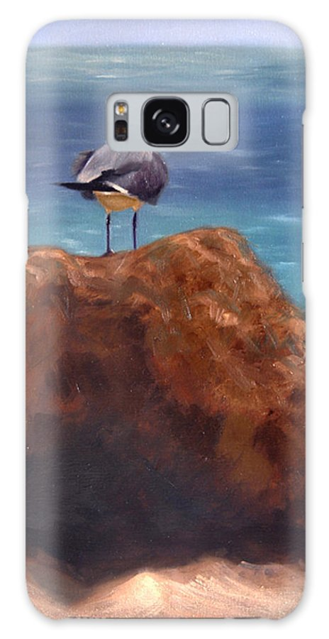 Oil Galaxy Case featuring the painting Ocean View by Greg Neal