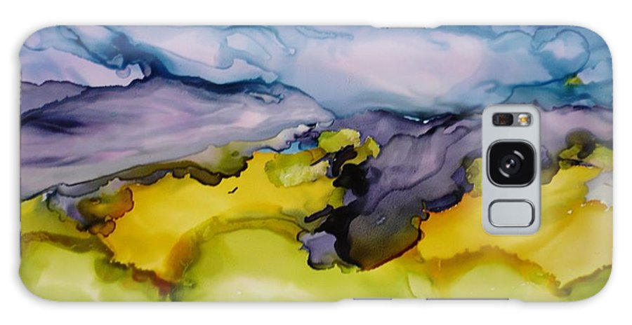 Landscape Galaxy Case featuring the painting Ocean View by Susan Kubes